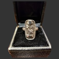 Vintage Sterling Egyptian Ring