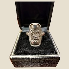 Vintage Sterling Egyptian Ring