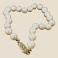 Estate 14k Cultured Pearl Bracelet