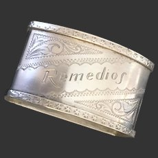 Vintage Sterling Napkin Ring from Remedios Cuba