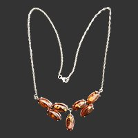 Vintage Sterling and Amber necklace