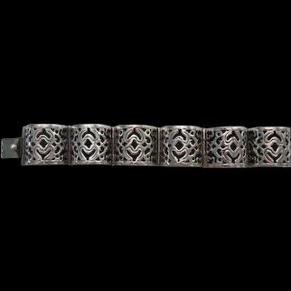 Vintage sterling Mexican Bracelet/cutout design