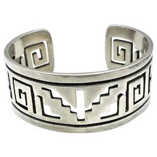 Taxco Mexican 970 Silver Aztec Cuff Bracelet