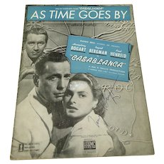 Ingrid Berman Signed Sheet Music As Time Goes By Casablanca 1942
