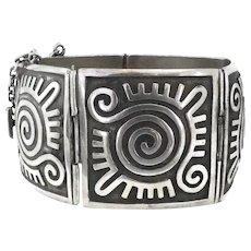 107GR Emilia Castillo Taxco Mexican Sterling Silver Bracelet
