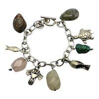 Emilia Castillo Taxco Mexican Sterling Silver Charm Bracelet