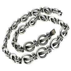 Hector Aguilar .940 Silver Taxco Mexican Necklace