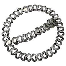 Los Castillo #836 Taxco Mexican Sterling Silver Necklace Bracelet Set 116Gr