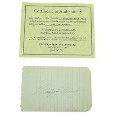 Marilyn Monroe Autograph with COA