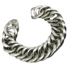 William Spratling Taxco Mexican Silver Curb Chain Link Bracelet