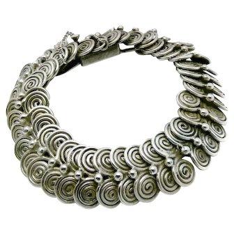Rare William Spratling 1930's Taxco Mexico 980 Silver Coiled Bracelet
