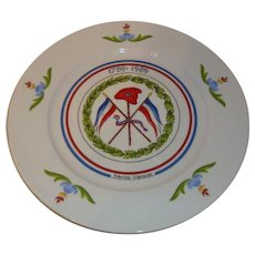 Rare French plate French Revolution 1789-1989, porcelain, Limited edition