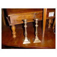 Pair of  French brass candlesticks Mid 1800
