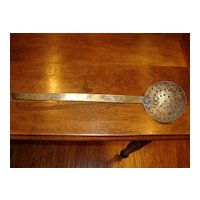 Old French copper strainer late 1800