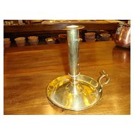 Old French brass candlestick Early 1900