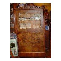 French burled walnut curio cabinet circa 1860