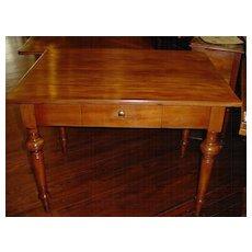 French farm table, walnut with drawer circa 1850