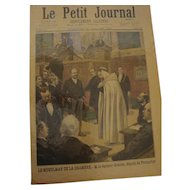 Original and authentic French newspaper Le Petit Journal dated 1897