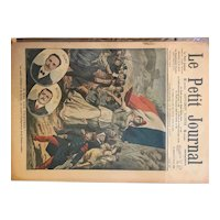 Original print French newspaper Petit Journal dated 1907 The Traitors