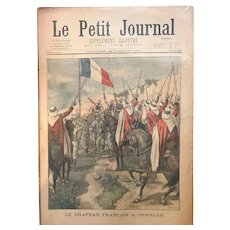 Original print French newspaper Le Petit Journal dated 1900 French flag In-Salah