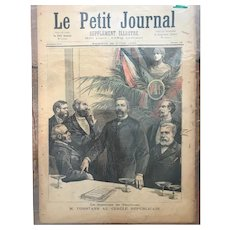 Original print French newspaper Le Petit Journal dated 1893 The French Republicans