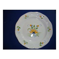 French hand painted faience plate  by Pornic, Brittany