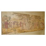 French tapestry jacquard decor Boucher mid 1900