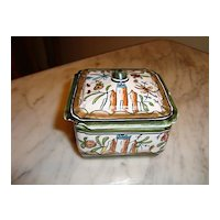 French hand painted box signed