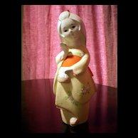 Adorable Hakata doll shaped kimono girl