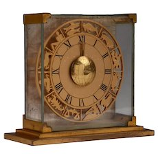 "Art Deco, 1930's Hour Lavigne ""JUST"" Zodiac Clock"