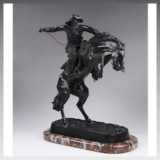 "Bronze Sculpture of ""Bronco Buster"" After Frederic Remington"