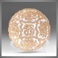 Meissen Cabinet Plate Raised Gilded Relief