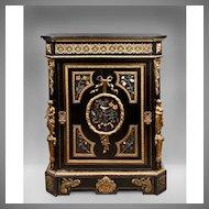 Napoleon III Bronze Mounted Ebonized Cabinet Signed By Mathieu Jeune Befort
