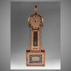 1820's Striking Banjo Clock by Jonathan Billings, Acton, MA