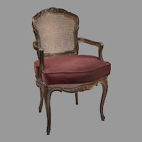 Early 20th C. Louis XV Style Cane Armchair