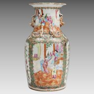 19th C. Rose Medallion Canton Vase