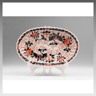 19th Century Oval Fluted Japanese Imari Bowl