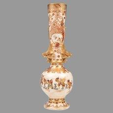 19th C. Meiji Period Japanese Satsuma Vase, Dragon Handles
