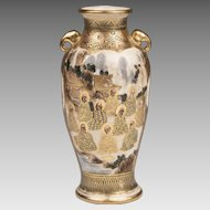 Miniature Meiji Period Signed Japanese Satsuma Vase