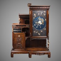 1890's Rare French Gabriel Viardot Cabinet In The Japonnaise Manner