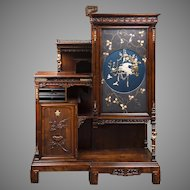 1890's Rare French Gabriel Viardot Cabinet In The Japonaise Manner