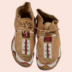 Pr. Arapaho Wind River Reservation Beaded Moccasins