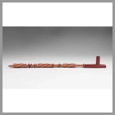 Sioux Native American Ceremonial Catlinite T Pipe