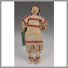 Sioux Hand Made Leather Doll Fully Clothed