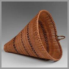 Native American Hand Woven Burden Basket