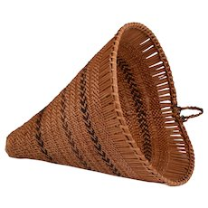 Native American Hand Woven Burden Basket