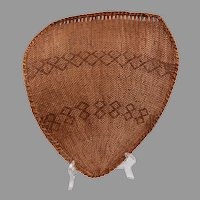 Native American Shield Shaped Winnowing Basket