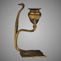 Tiffany Studios Bronze Cobra Candlestick