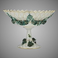 Carl Thieme Dresden Flower Compote With Flower Encrustation