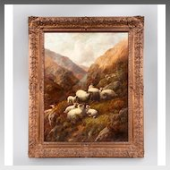Robert F. Watson Scottish Highland Sheep Oil On Canvas